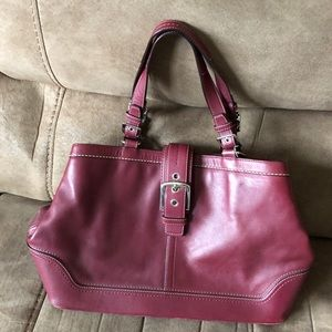 Burgandy Coach bag